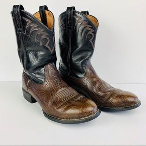 Ariat Boots 10 D Black Brown Leather 35525 Western
